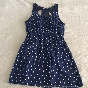 Mossimo navy polka dot dress